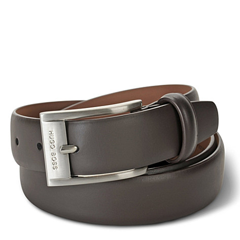 HUGO BOSS Slim logo buckle belt