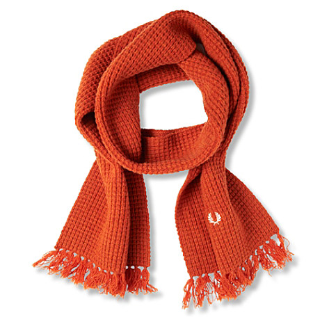 FRED PERRY Moss Stitch scarf