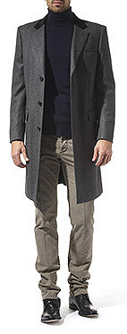 CROMBIE Herringbone retro coat