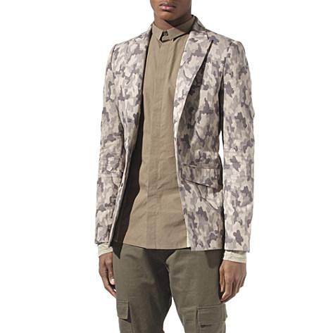 Unconditional Camouflage cutaway jacket