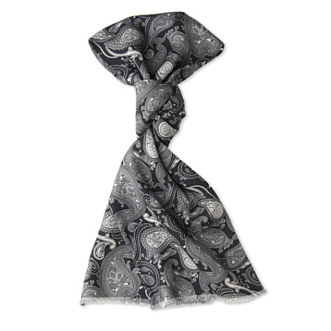 PRETTY GREEN Silk wool paisley scarf