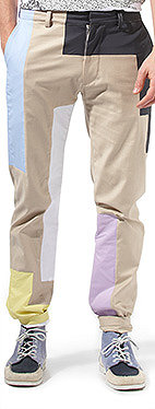 Panelled chino trousers