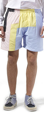 CHRISTOPHER SHANNON Panelled sports shorts