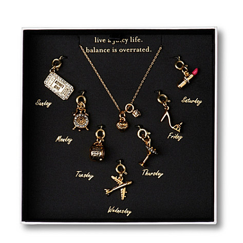JUICY COUTURE Days of The Week necklace