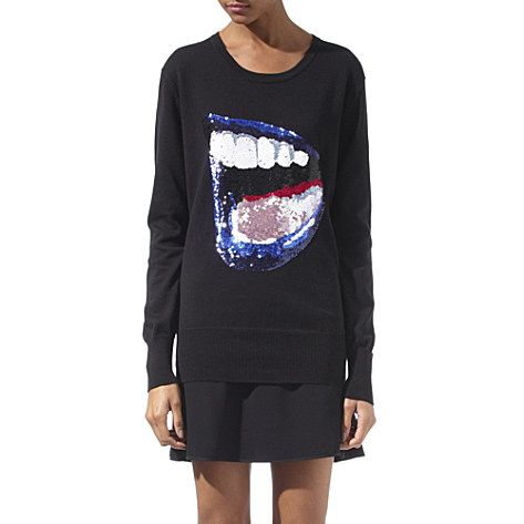 Markus Lupfer Exclusive Blue Lips Jumper
