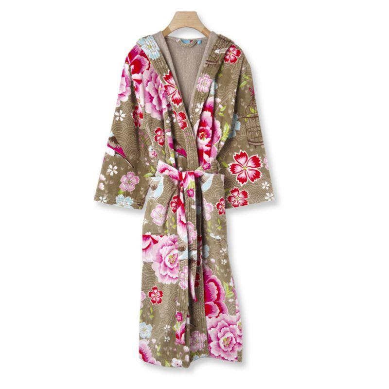 081ebb06b529 Birds of Paradise cotton robe khaki PIP STUDIO Robes Nightwear on ...