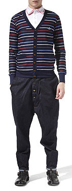VIVIENNE WESTWOOD<br /> Striped knitted cardigan
