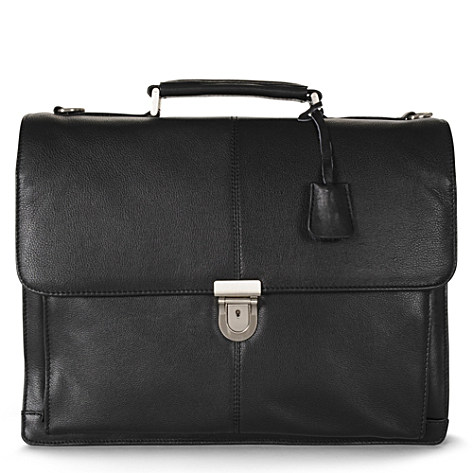 LEONHARD HEYDEN Oxford two compartment briefcase