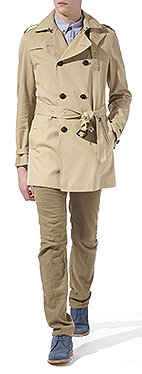 BURBERRY PRORSUM Short belted trench coat
