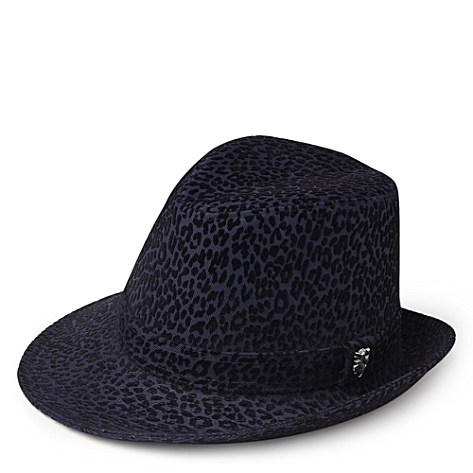 PHILIP TREACY Leopard side sweep hat