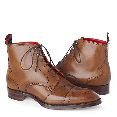 Jeffery West - Cricket Derby Boots in Tan