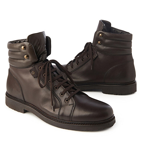 ERMENEGILDO ZEGNA Shearling ankle boots