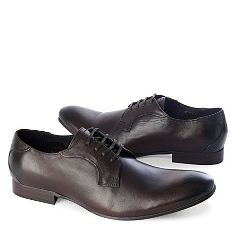 H BY HUDSON Braun derby shoes dark brown