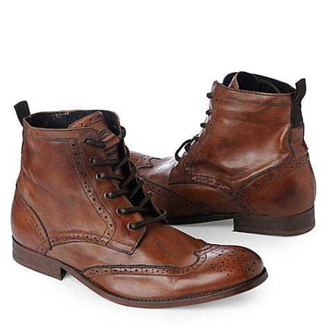 H BY HUDSON Angus wingcap chukka boots tan